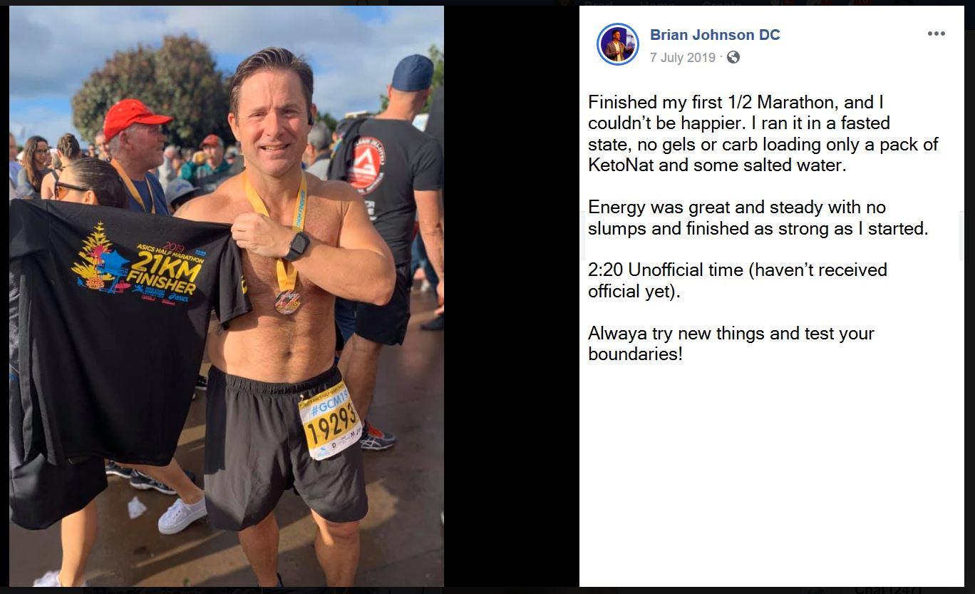 Performance - Running - Fasting - Brian Johnson
