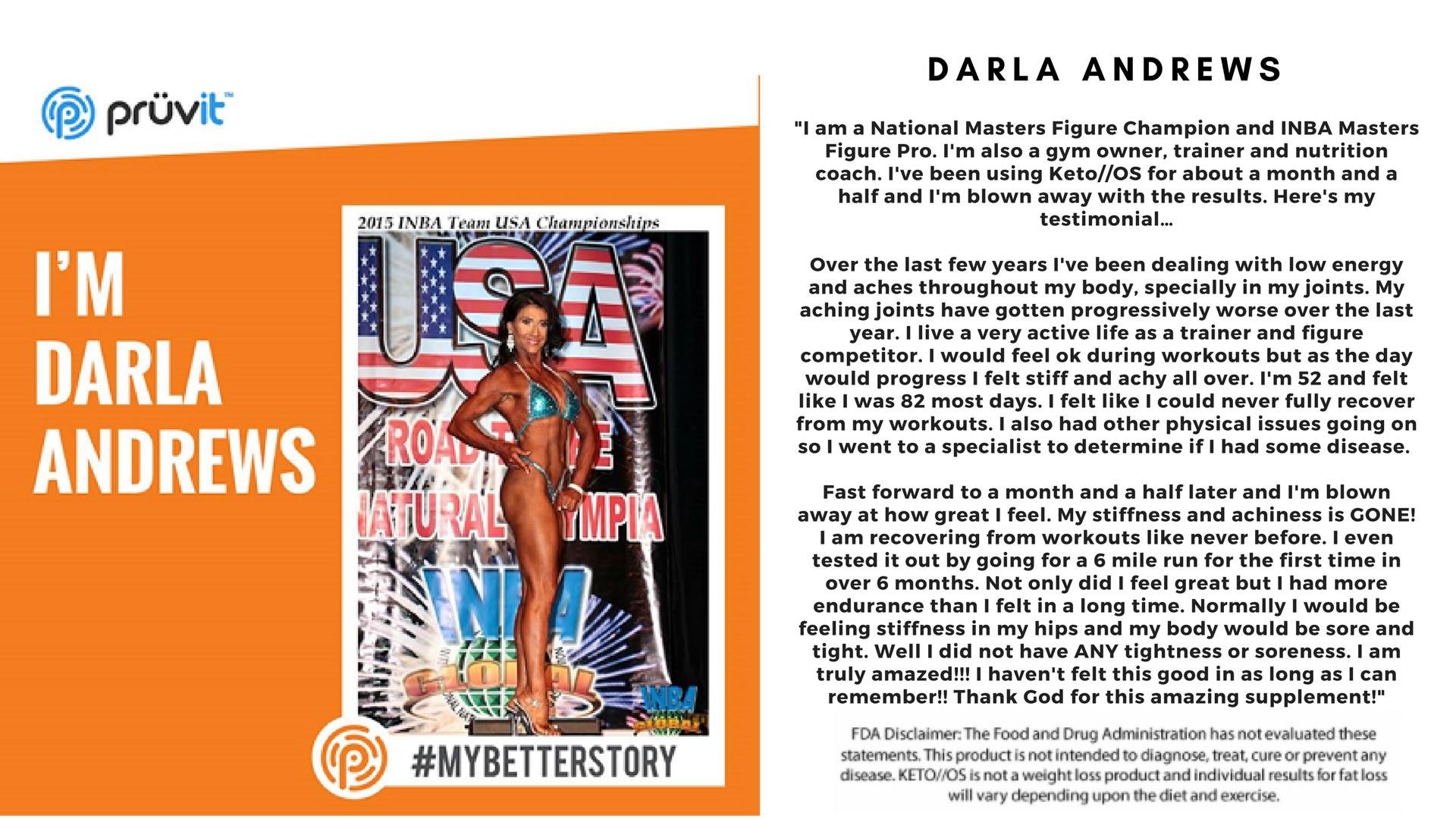 Performance - Bodybuilding - Pain - Darla Andrews
