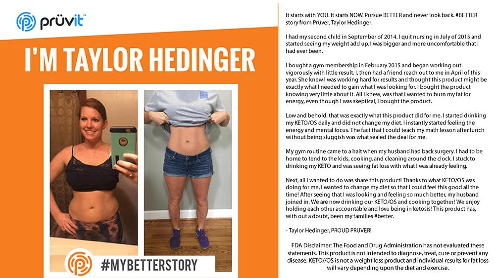 Fat Loss - No Diet Change - Taylor Hedinger