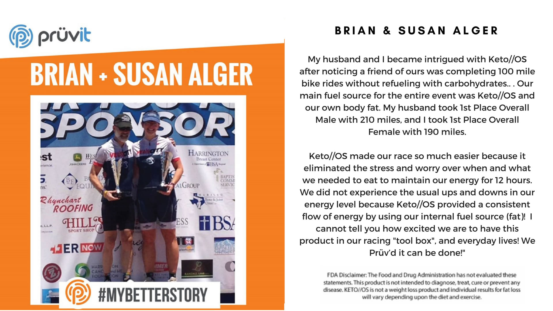 Performance - Cycling - Brian and Susan Alger