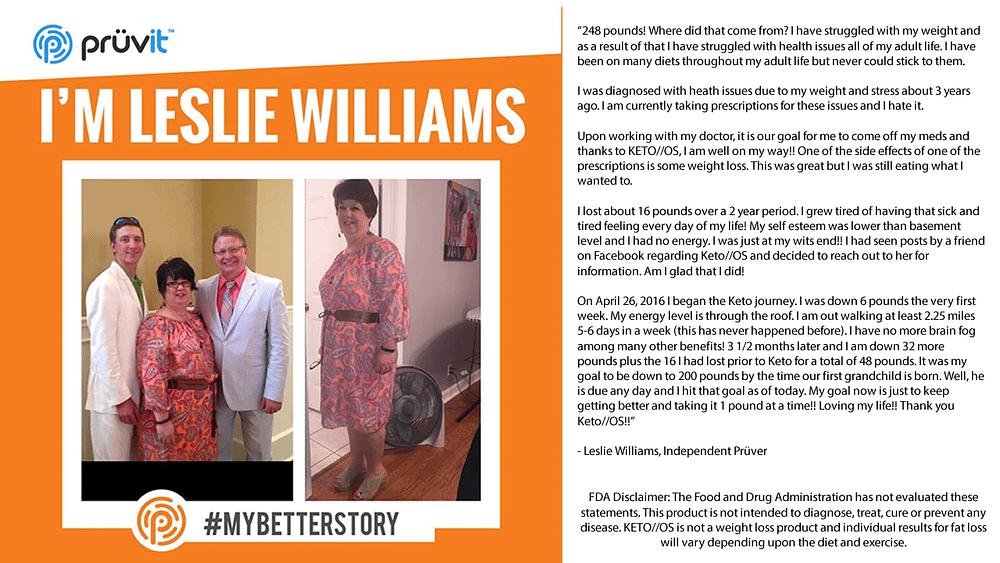 Fat Loss - Energy - Brain Fog - Leslie Williams